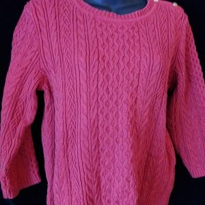 Tommy Hilfiger red cabled sweater-sz L